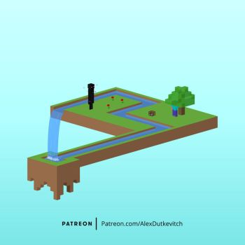 Impossible Minecraft Island by giftedscholar