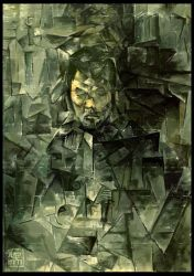 Self Portrait in Cubism by KaelNgu