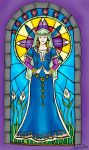 Stain Glass Maiden by CinsAngel