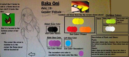 Baka Oni's New Reference (With Color Palette) by LuckyJiku