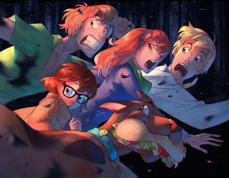 Scooby Doo and the Crew by nakanoart