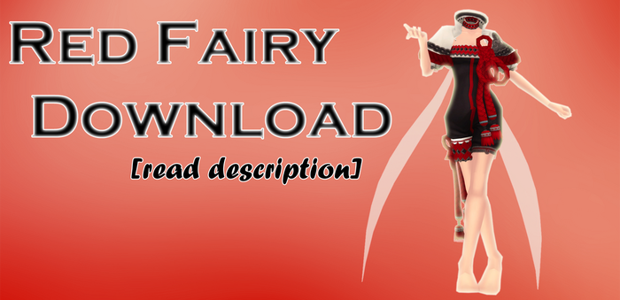 MMD Red Fairy outfit download by Anne-Bonny
