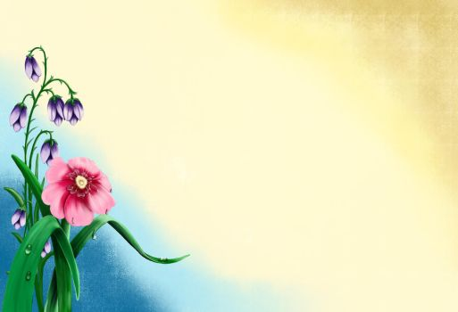 Background with a flower by Korolevatumana