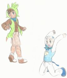 Pokemon Super Mystery Dungeon Chespin and Oshawott by NegaPol
