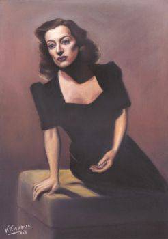A woman's face - Joan Crawford portrait - retrato by VTAbdala