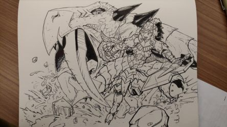 Inktober Monster Hunter: Flash Hunter Torche by Komikino