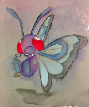 Digitally Revised Butterfree Watercolor