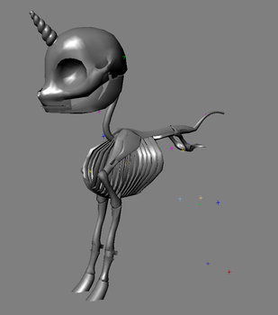 FO:E Skeleton Rough WIP by Poninnahka