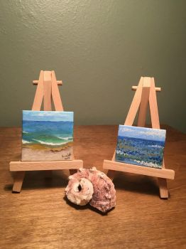 Miniature Plein Air Ocean Study  by Yavanni