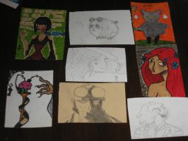 Art Cards set 2 by Lizzie-Leeches