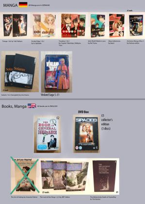 Books English / German by Zombiesmile