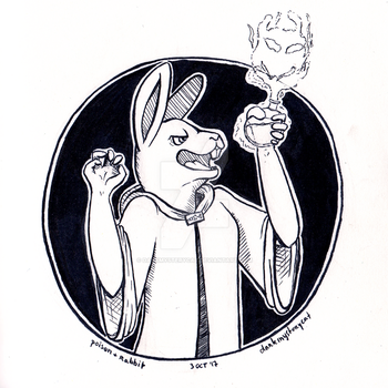 Inktober Day 3 - Poison + Rabbit by DarkMysteryCat