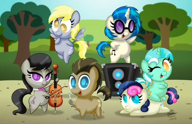 Chibi Ponies:  Background Ponies by AleximusPrime