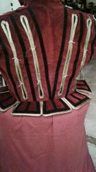 WIP burgundy doublet back vies (tabs) by AliceDefect