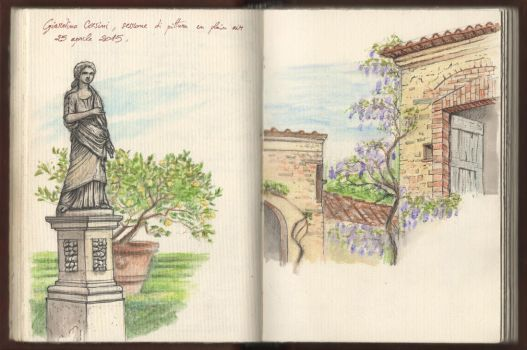 Secret and beautiful garden of Florence by Panaiotis