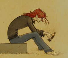 Bill Weasley, Random Brooding by The-Starhorse