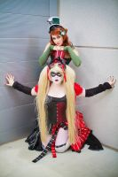 Steampunk Harley and Ivy by Kags-chan