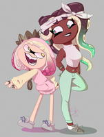 Cephalopod Ladies by PaintBounce
