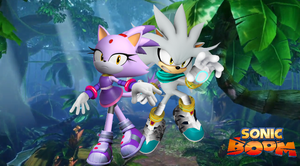 Sonic Boom Silver and Blaze Wallpaper by Silverdahedgehog06