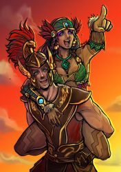 Mercury and Awilix by Karulox by DizzyTigerX3
