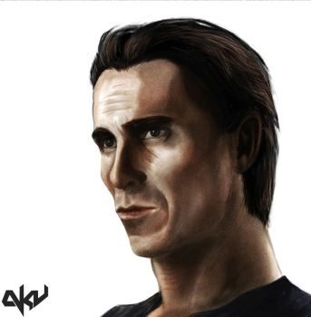 Christian Bale Portrait by Crown-Wolf