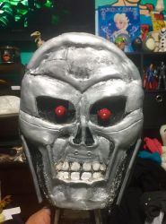 PaperMache Terminator face by Rene-L