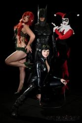 :DC: The Sirens and The Bat by AlouetteCosplay