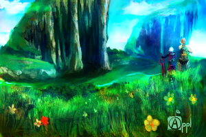 Xenoblade - Gaur Plains by Zeighous