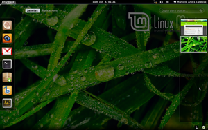 Gnome 3 in Linux Mint-5 by malvescardoso