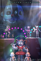 Welcome to our show|FNaF Sister Location poster by ShaneTheBarbarianDA