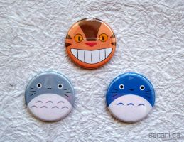 My Neighbour Totoro Button Set by Sacari