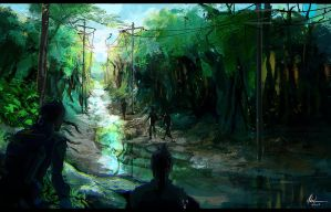 Wastelands - the forest by Mishkatron