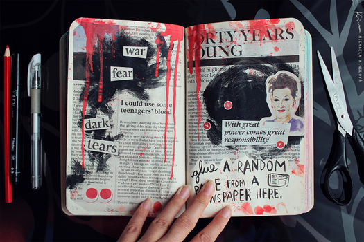 Wreck This Journal: Page 84, 85 by MichaelaKindlova