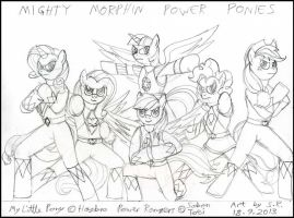 Mighty Morphin Power Ponies by Megamink1997