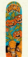 Vegetables Skateboard by blitzcadet