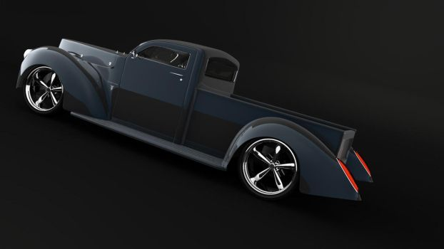 40' pickup ford 3d backblack by rizzodesign