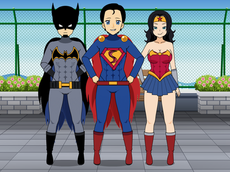 Kisekae: Superman Batman Wonder Woman by FrostTheHobidon