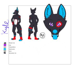 Kyle Ref sheet 2.0 by kyledawolf