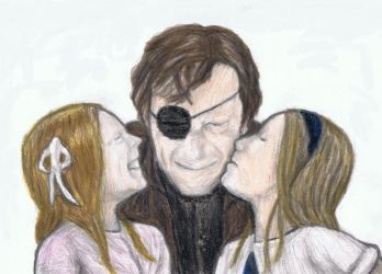 The Walking Dead - Governor with his girls by gagambo