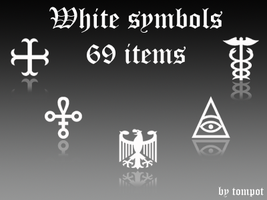 White symbols by tompot
