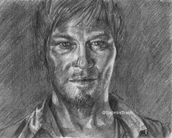 Daryl Dixon of The walking dead by Sabriiistrash