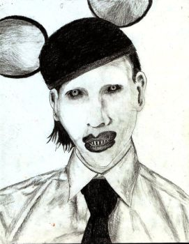 Marilyn Manson Portrait by acdcdrummer