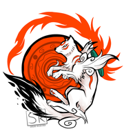Okami White Wolf Goddess by SarahRichford