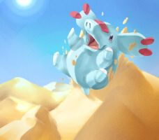 Day 17 - Phanpy (sliding on the sand xD)
