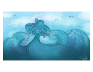 Ocean Lady by conniethehedgecat777