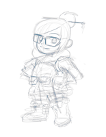 Overwatch - Mei - Rough Sketch by KairiStrife90
