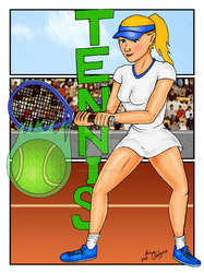 Tennis Player by DarkRubyMoon
