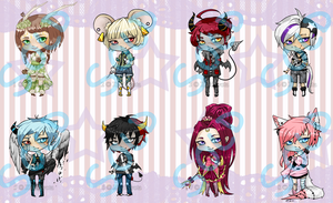 Adoptables set 4 Sold Out by XakiNyota