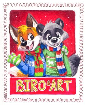 Christmas with Biro and Art by pandapaco