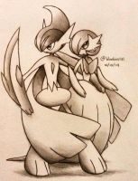 Mega Gallade and Mega Gardevoir